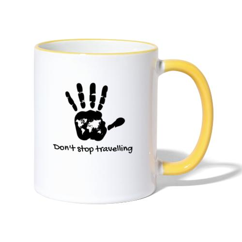 Don't stop travelling - Taza en dos colores