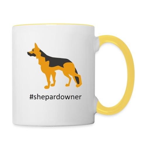 Schäferhund Besitzer - Tasse zweifarbig