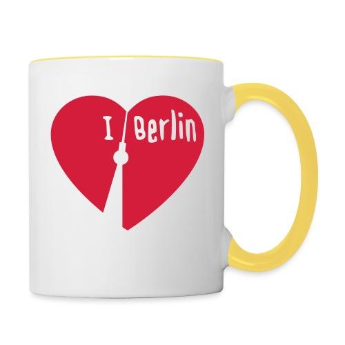 I love Berlin (1-farbig) - Tasse zweifarbig