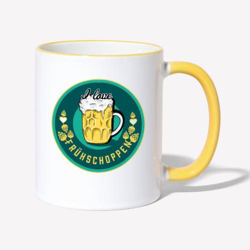 I love Frühschoppen - Tasse zweifarbig