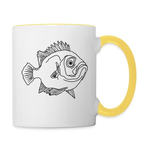 Fische Barsche Ozean Meerwasser Aquarium Angeln - Contrasting Mug