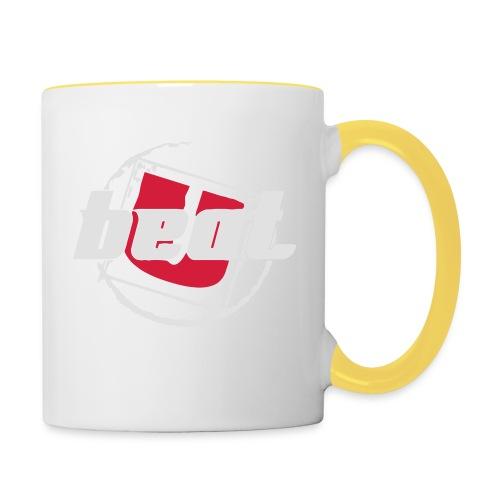 BeatU Logo Weiß/Rot - Tasse zweifarbig