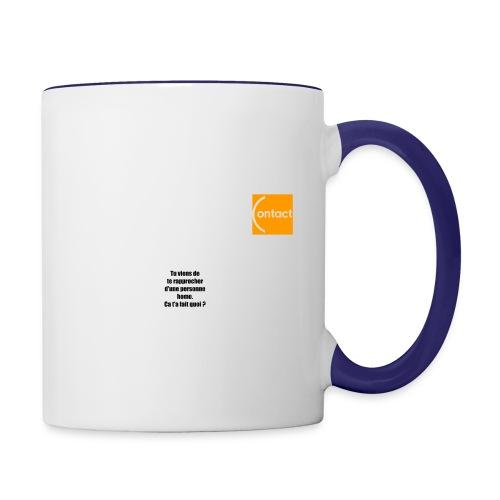 Rapproche-toi d'un homo - Mug contrasté