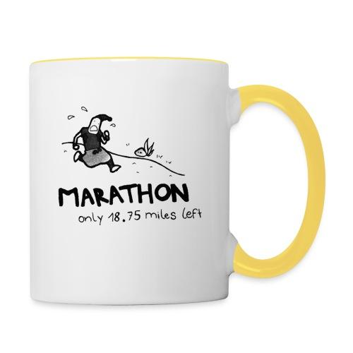 marathon-png - Kubek dwukolorowy