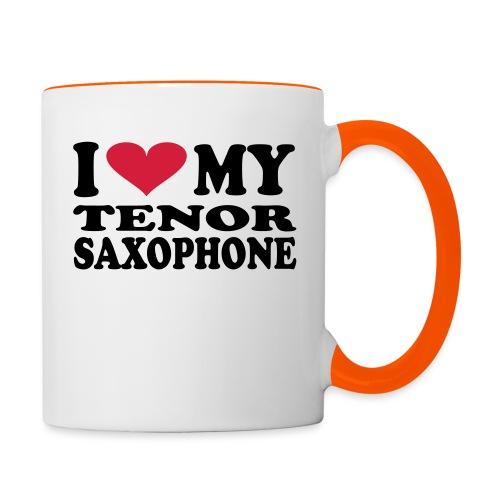 I Love My TENOR SAXOPHONE - Contrasting Mug