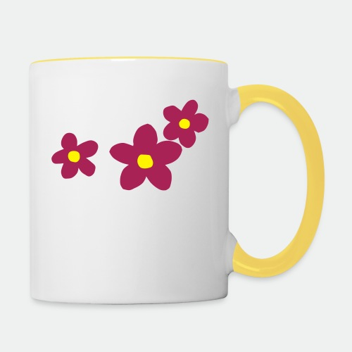 Three Flowers - Contrasting Mug