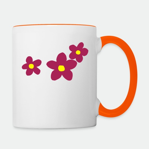 Three Flowers - Contrasting Mug