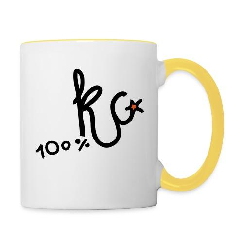 100%KC - Mok tweekleurig