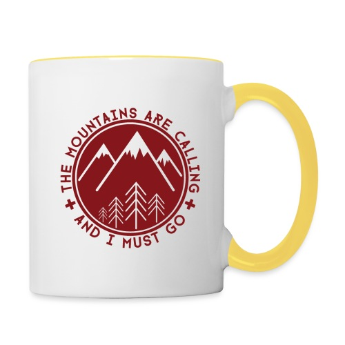 The Mountains are Calling - Contrasting Mug