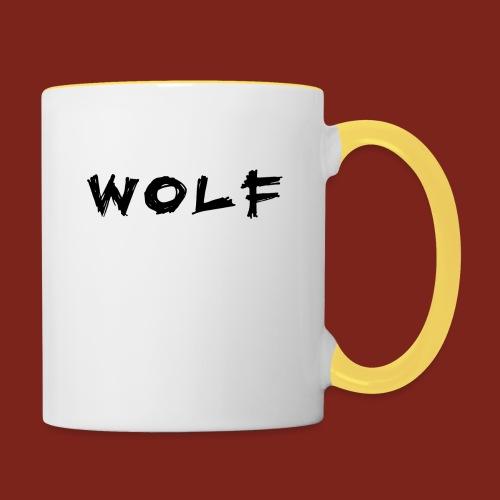 Wolf Font png - Mok tweekleurig