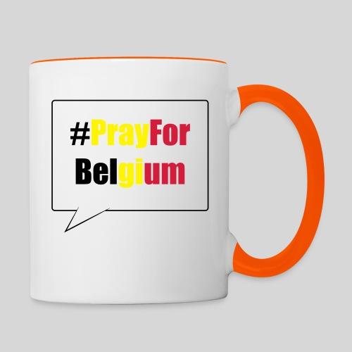 #PrayForBelgium - Mug contrasté