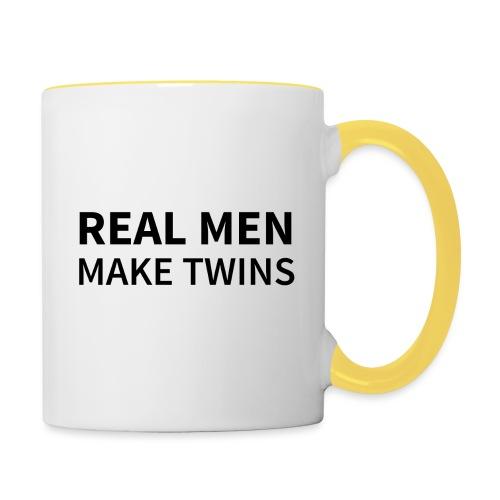 Real Men make Twins - Tasse zweifarbig