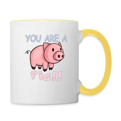 YOU ARE A PIG! T-SHIRT - Contrasting Mug