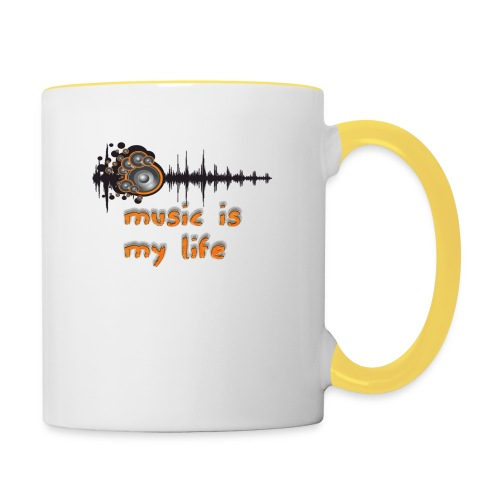 Music is my Life - Tazze bicolor