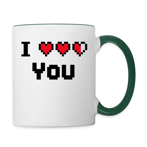 I pixelhearts you - Mok tweekleurig