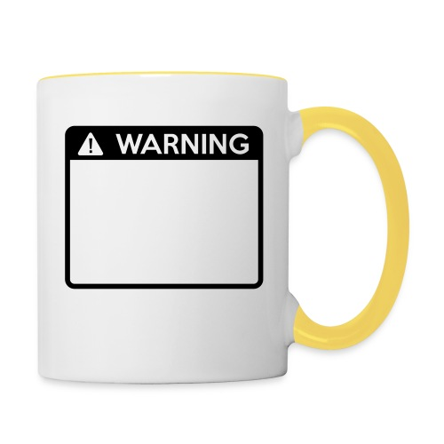 Warning Sign (1 colour) - Contrasting Mug