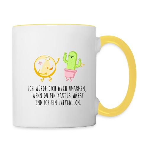 Kaktus und Ballon - Tasse zweifarbig