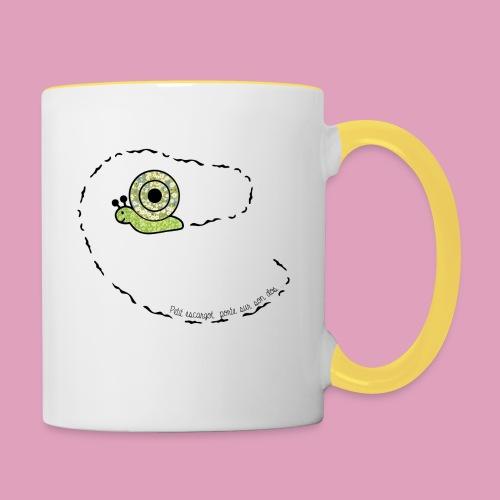 Petit escargot porte sur son dos... (Tasse) - Mug contrasté
