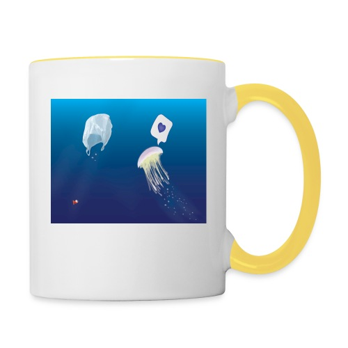 Meduse in Love - Mug contrasté