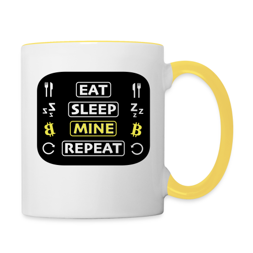 EAT SLEEP MINE REPEAT - Tasse zweifarbig