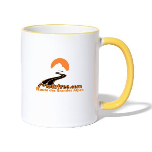 logo motofree orange - Mug contrasté