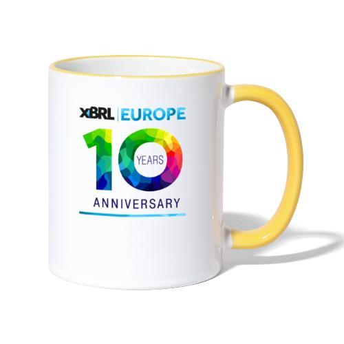 10th anniversary of XBRL Europe - Contrasting Mug