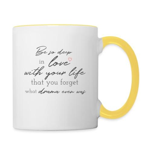 Love life grey - Tasse zweifarbig