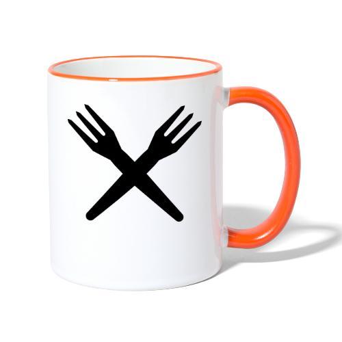 gekruiste frietvorken - trident - Mug contrasté
