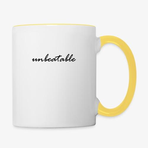 unbeatable - Tasse zweifarbig