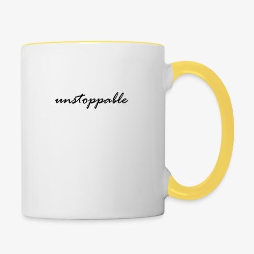 unstoppable - Tasse zweifarbig