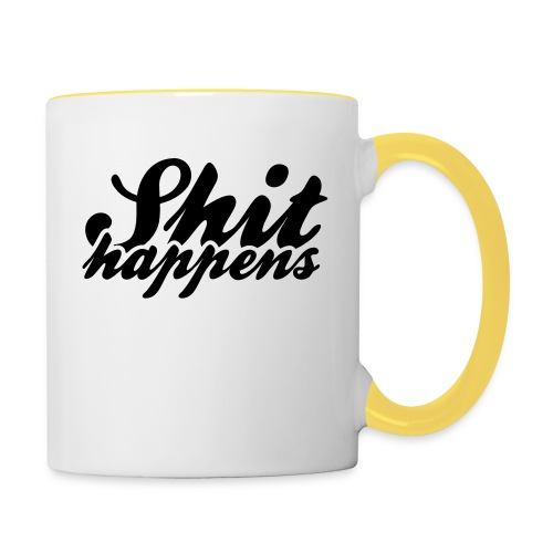 Shit Happens and Politics - Contrasting Mug