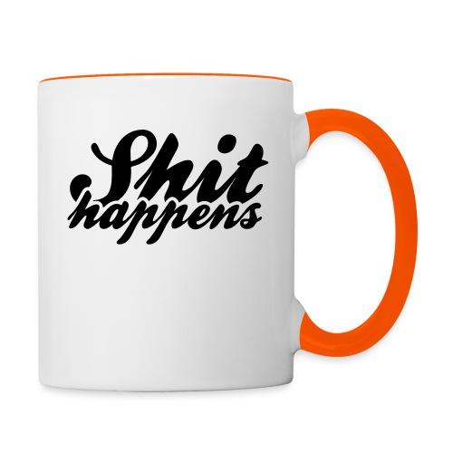 Shit Happens and Politics - Contrasting Mug