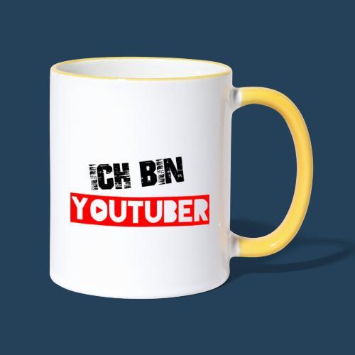 Ich bin Youtuber! - Tasse zweifarbig