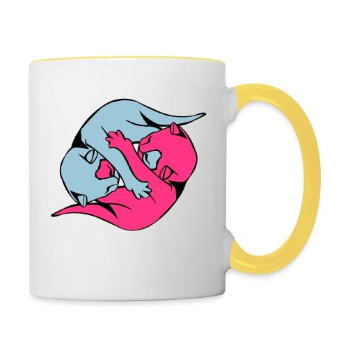 Yin and Yang Kitties - Contrasting Mug