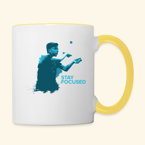 Stay Focused and enjoy the game ping pong - Tasse zweifarbig