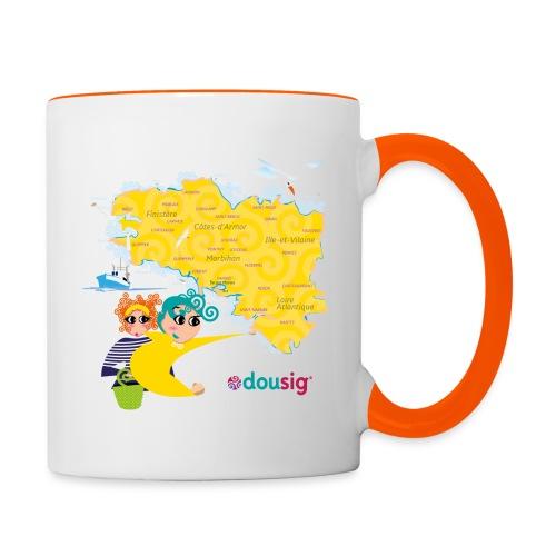 Carte de la Bretagne Dousig - Mug contrasté