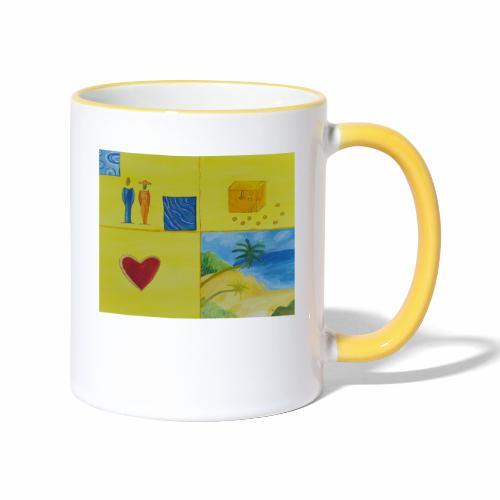Viererwunsch - Tasse zweifarbig