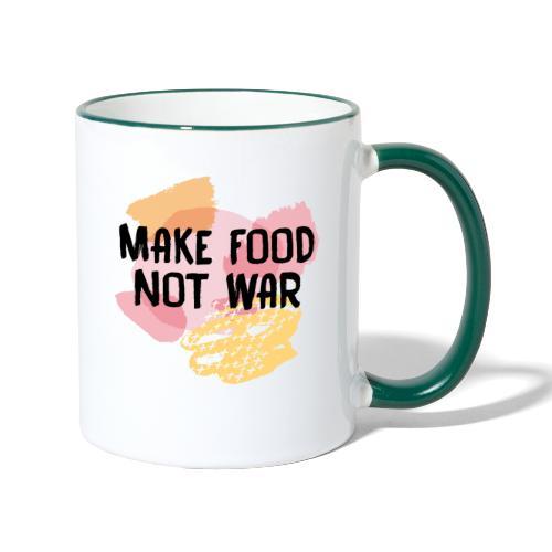 Make Food Not War - Tasse zweifarbig