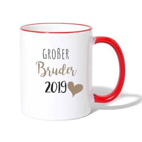 Großer Bruder 2019 - Tasse zweifarbig