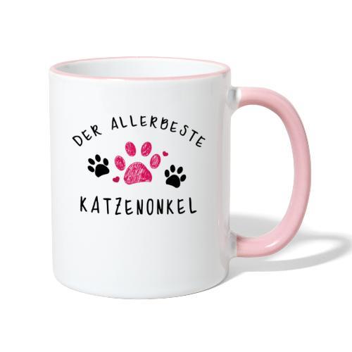 Der allerbeste Katzenonkel - Tasse zweifarbig