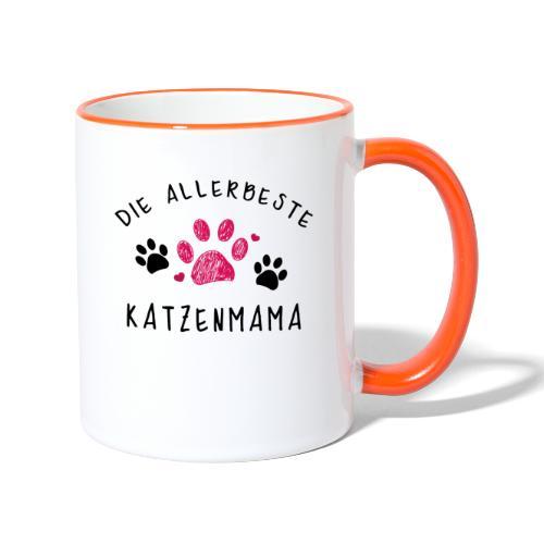 Die allerbeste Katzenmama - Tasse zweifarbig