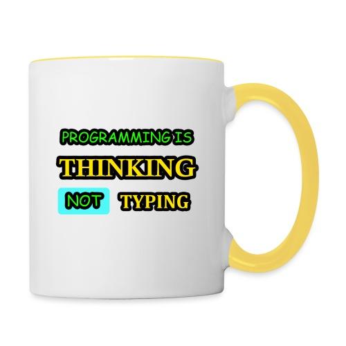 THINKING - Kaksivärinen muki