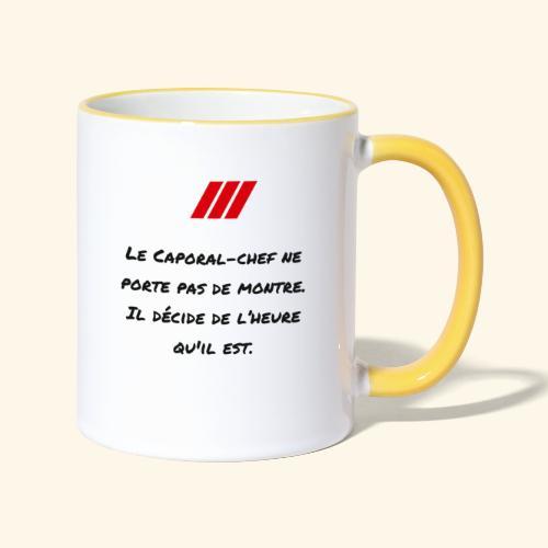 cchef montre - Mug contrasté