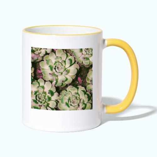 Summer garden plants watercolor nature - Contrasting Mug