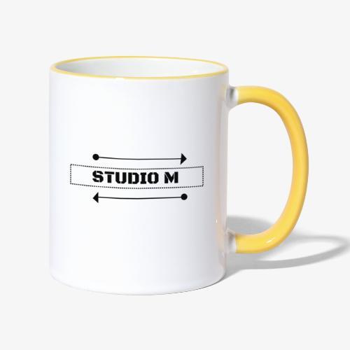 Studio M (negro) - Taza en dos colores