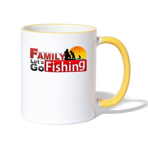 FAMILY LET´S GO FISHING FONDO - Taza en dos colores
