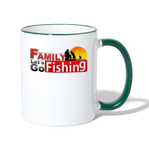 FAMILY LET´S GO FISHING FONDO - Taza en dos colores