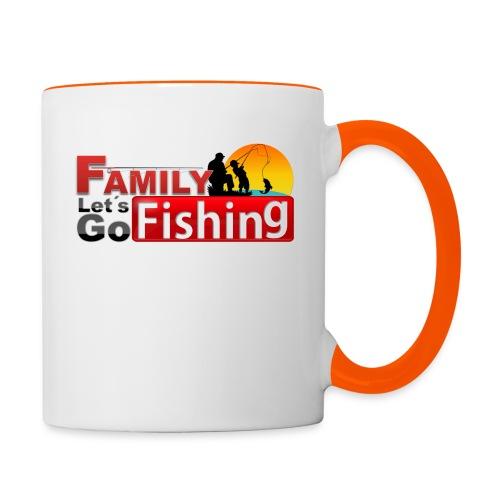FAMILY LET'S GO FISHING FUND - Contrasting Mug