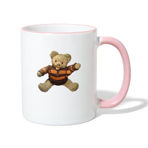 Teddybär - orange braun - Retro Vintage - Bär - Tasse zweifarbig