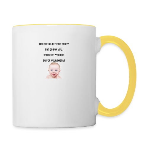 daddy tshirt sort tekst - Contrasting Mug